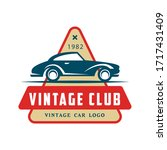 car logo colored old retro... | Shutterstock .eps vector #1717431409