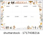 collection of weekly or daily... | Shutterstock .eps vector #1717438216