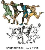 sprinters vector illustration. | Shutterstock .eps vector #1717445