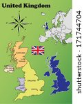 united kingdom vector set with... | Shutterstock .eps vector #171744704