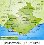 map of provence alpes cote d... | Shutterstock . vector #171744890
