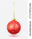 Red Glitter Christmas Ball...