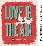 valentines day retro style... | Shutterstock .eps vector #171746714