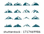 mountain silhouette   set of... | Shutterstock .eps vector #1717469986