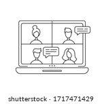 vector icon monoline online...   Shutterstock .eps vector #1717471429