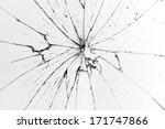 broken glass white background | Shutterstock . vector #171747866