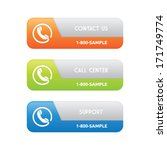 contact support banners | Shutterstock .eps vector #171749774