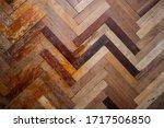herringbone old parquet... | Shutterstock . vector #1717506850