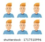 vector set of male avatar icons ... | Shutterstock .eps vector #1717510996