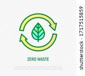 zero waste thin line icon. leaf ... | Shutterstock .eps vector #1717515859