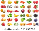 collection of various fruits... | Shutterstock . vector #171751790