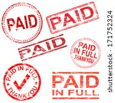rectangular and round paid... | Shutterstock .eps vector #171752324