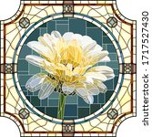 vector mosaic with blooming... | Shutterstock .eps vector #1717527430