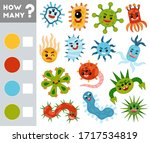 counting game for preschool...   Shutterstock .eps vector #1717534819