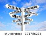 dept sign post. financial... | Shutterstock . vector #171756236