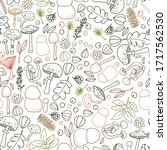 seamless vector pattern with... | Shutterstock .eps vector #1717562530
