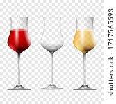 wine transparent glasses ... | Shutterstock .eps vector #1717565593