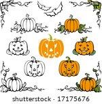 pumpkin halloween set | Shutterstock .eps vector #17175676