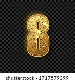 golden glitter number eight.... | Shutterstock .eps vector #1717579399