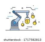 production management... | Shutterstock .eps vector #1717582813
