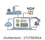 production management... | Shutterstock .eps vector #1717582816