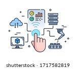 production management...   Shutterstock .eps vector #1717582819