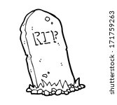 cartoon spooky grave | Shutterstock . vector #171759263