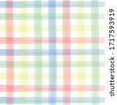 watercolor checkered pattern.... | Shutterstock .eps vector #1717593919
