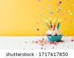 A Colorful  Birthday Cupcake...