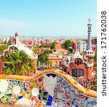 ceramic mosaic park guell in... | Shutterstock . vector #171762038