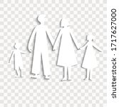 paper cutout family  family... | Shutterstock .eps vector #1717627000