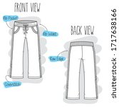 pants sketch. black and white... | Shutterstock .eps vector #1717638166