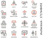 vector set of linear icons... | Shutterstock .eps vector #1717648453