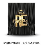 grand reopening poster with... | Shutterstock .eps vector #1717651906