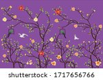 vector wallpaper design with... | Shutterstock .eps vector #1717656766