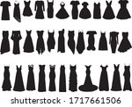 huge dress set  isolated black... | Shutterstock .eps vector #1717661506