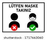 """l tfen maske tak n z  """"please...   Shutterstock .eps vector #1717663060"""