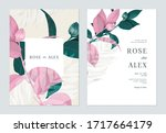 floral wedding invitation card... | Shutterstock .eps vector #1717664179