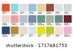 pantone pastel colour catalog... | Shutterstock .eps vector #1717681753