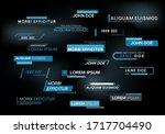 set of news lower thirds.... | Shutterstock .eps vector #1717704490