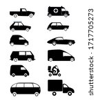 vector graphics car icons set....