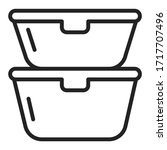 reusable lunchboxes line black...   Shutterstock .eps vector #1717707496