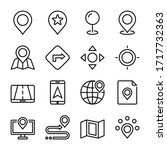maps and navigation icon set | Shutterstock .eps vector #1717732363