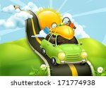 traveling by car  vector... | Shutterstock .eps vector #171774938