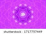 sahasrara  crown chakra symbol. ... | Shutterstock .eps vector #1717757449