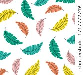 multi colored leaves seamless... | Shutterstock .eps vector #1717772749
