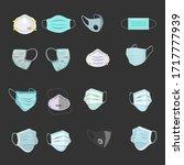 illustration of face masks ... | Shutterstock .eps vector #1717777939