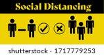 social distancing concept...   Shutterstock .eps vector #1717779253
