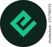 energi token coin logo vector... | Shutterstock .eps vector #1717780753