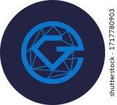 glitzkoin token coin logo... | Shutterstock .eps vector #1717780903